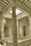 Ruïnes van Pompei in Sepia Stock Fotografie