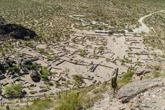 Ruïnes van Quilmes, Argentinië stock afbeeldingen