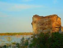 Ruïnes van Roemeense kerk Royalty-vrije Stock Foto's