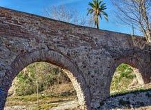 Ruïnes van Roman aquaduct royalty-vrije stock fotografie