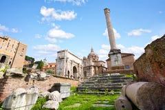 Ruïnes van roman forum Stock Afbeeldingen