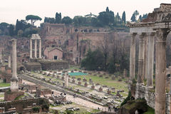 Ruïnes van roman forum Royalty-vrije Stock Fotografie