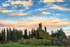 Ruïnes van Romena-Kasteel Royalty-vrije Stock Foto's