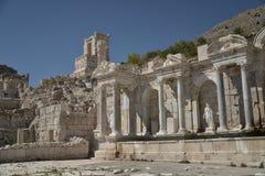 Ruïnes van Sagalossos, antic stad Stock Afbeelding