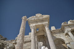 Ruïnes van Sagalossos, antic stad Royalty-vrije Stock Foto's