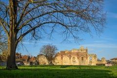 Ruïnes van St Augustine Abdij in Canterbury, Engeland Stock Foto's