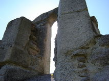 Ruïnes van St Nicolas kerk Royalty-vrije Stock Foto's