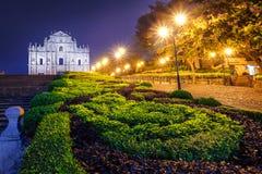 Ruïnes van St Paul's, het Oriëntatiepunt van Macao ` s stock foto's