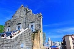 Ruïnes van St Paul And Cityscape, Macao, China, Unesco-de Plaats van de Werelderfenis Royalty-vrije Stock Fotografie