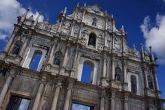 De kerk van Saint Paul in Macao Stock Afbeeldingen