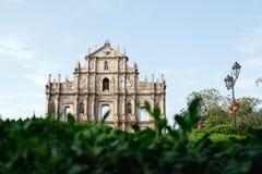 Ruïnes van St. Paul Kathedraal, Macao Royalty-vrije Stock Foto's