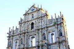 Ruïnes van St Paul, Macao, China, Unesco-de Plaats van de Werelderfenis Royalty-vrije Stock Fotografie