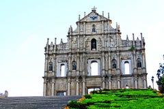 Ruïnes van St Paul, Macao, China, Unesco-de Plaats van de Werelderfenis Stock Fotografie