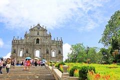 Ruïnes van St Paul, Macao, China, Unesco-de Plaats van de Werelderfenis Stock Afbeelding