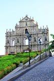 Ruïnes van St Paul, Macao, China, Unesco-de Plaats van de Werelderfenis Royalty-vrije Stock Afbeelding