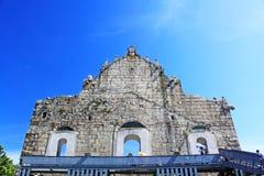 Ruïnes van St Paul, Macao, China, Unesco-de Plaats van de Werelderfenis Royalty-vrije Stock Foto's