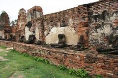 Ruïnes van stad Ayutthaya stock foto