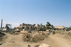 Ruïnes van Tempel Karnak. Stock Foto's