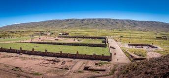 Ruïnes van Tiwanaku Tiahuanaco, Pre-Columbian archeologische plaats - La Paz, Bolivië Royalty-vrije Stock Afbeeldingen