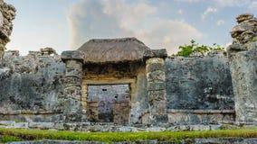 Ruïnes van Tulum royalty-vrije stock fotografie