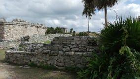 Ruïnes van Tulum stock afbeeldingen