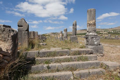 Ruïnes van Volubilis. Marokko stock fotografie
