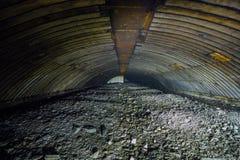Ruïnes van voorwerp 221, verlaten sovjetbunker, reservecommandopost van de Vloot van de Zwarte Zee royalty-vrije stock afbeelding