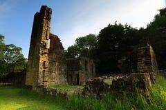 Ruïnes van Wycoller-Zaal, nr Colne, Lancashire Royalty-vrije Stock Foto's