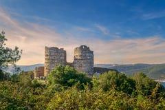Ruïnes van Yoros-Kasteel Yoros Kalesi, als Genoese-Kasteel, Anadolu Kavagi, Istanboel, Turkije ook worden bekend dat stock afbeelding