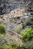 Ruïnes Wadi Bani Habib Royalty-vrije Stock Fotografie