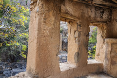 Ruïnes Wadi Bani Habib Royalty-vrije Stock Afbeeldingen