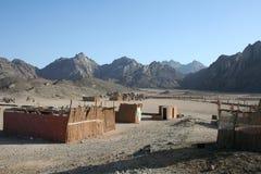 Ruïnes in woestijn Stock Afbeelding
