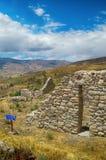 Ruïnesarchitectuur, steenhuis, het kamperen Stock Foto