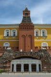 Ruïnesgrot in Alexandrovsky-tuin dichtbij de muur van het Kremlin in Mo royalty-vrije stock foto