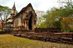 Ruïnetempel in Sukhothai Royalty-vrije Stock Foto