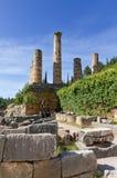 Ru?nas do templo de Apollo, Delphi, Greece Imagem de Stock
