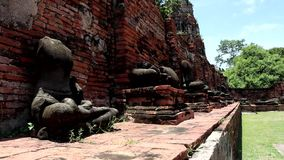 Ru?nes in Ayutthaya, Thailand stock footage