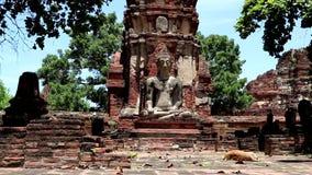 Ru?nes in Ayutthaya, Thailand stock videobeelden