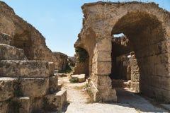 Ru?nes van de Baden van Antoninus Carthago, Tunesi? royalty-vrije stock fotografie