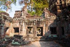 Ru?nes van de 12de Eeuw van Preah Khan Temple in Angkor Wat Siem Reap, Kambodja stock foto