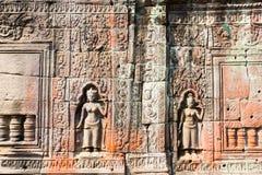 Ru?nes van de 12de Eeuw van Preah Khan Temple in Angkor Wat Siem Reap, Kambodja stock fotografie