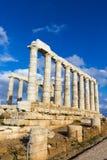 Ru?nes van de tempel van Poseidon royalty-vrije stock foto