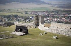 Ru?nes van middeleeuws kasteel royalty-vrije stock foto