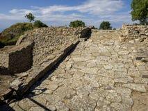 Ru?nes van oude Troia-stad, Canakkale Dardanellen/Turkije stock foto