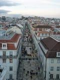 Rua奥古斯塔在里斯本 免版税库存图片
