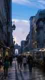 Rua Αουγκούστα στο σούρουπο Στοκ φωτογραφίες με δικαίωμα ελεύθερης χρήσης
