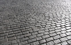 Rua 1 do Cobblestone de Manhattan Imagem de Stock