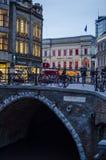 Rua acolhedor da cidade em Países Baixos, utrecht Fotografia de Stock