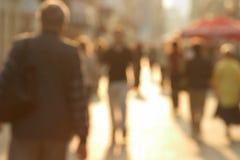 Rua aglomerada Imagem de Stock
