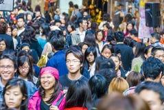Rua aglomerada em Hong Kong Imagem de Stock